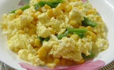 水果玉米美食——玉米水炒鸡蛋