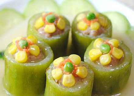 水果玉米美食——翠玉镶明珠