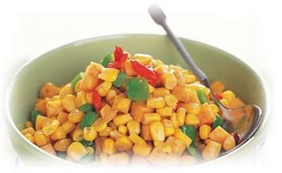 水果玉米美食——红薯炒玉米粒