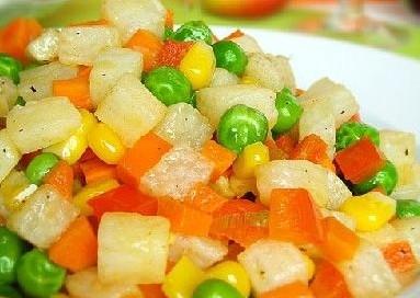 水果玉米美食——五彩山药玉米