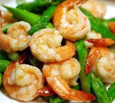 24节气饮食法—雨水—青芦笋炒虾仁