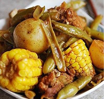 水果玉米美食——玉米乱炖