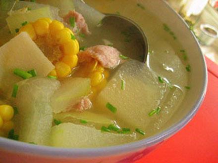 水果玉米美食——冬瓜玉米汤