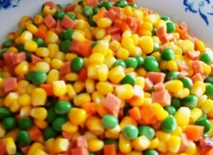 水果玉米美食——玉米三丁